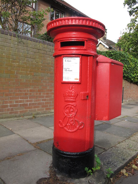 Edward VII postbox, Lindisfarne Road / Castleton Grove, NE2