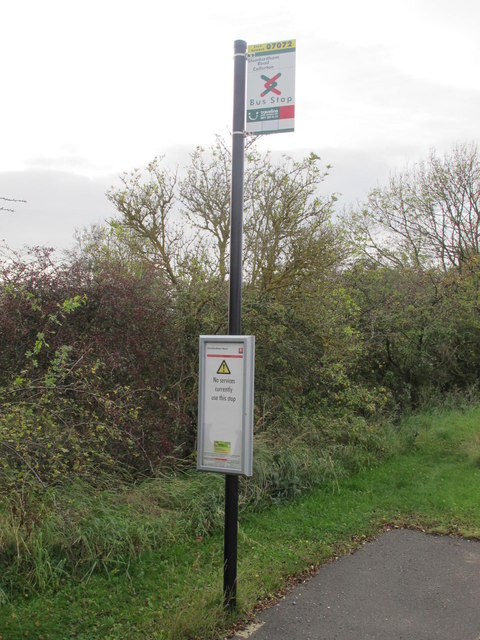 Bus stop, south side of B6324, Callerton