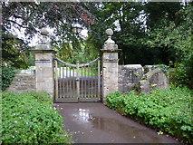 NZ2237 : St Brandon Church, Brancepeth, Gate by Alexander P Kapp