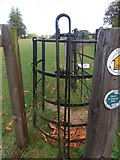 SP1726 : Old iron tensioning/straining post by Liz Stone