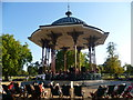TQ2874 : The Bandstand on Clapham Common by Marathon