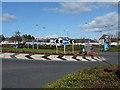 NY3267 : Crossways Roundabout, Gretna by Oliver Dixon