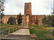 SU9849 : Steps to Guildford Cathedral by Paul Gillett
