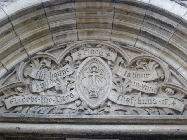 Former St. Oswald's Church doorway sculpture