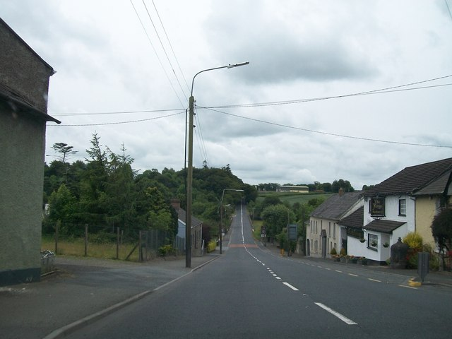 The N2 at the village of Collon, Co Louth