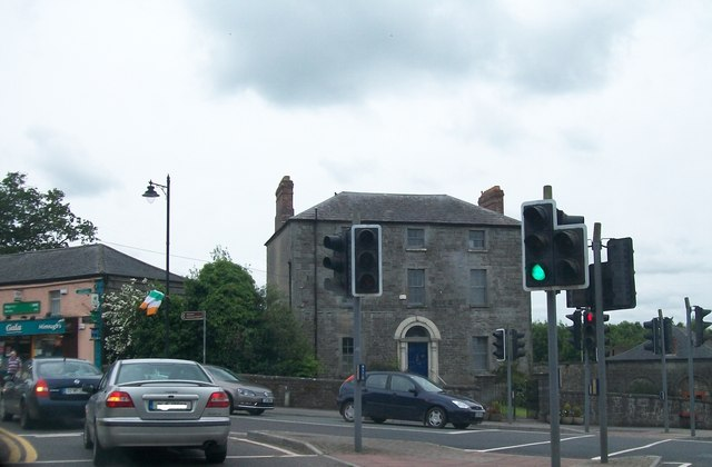 One of the four Corner Houses at the Village Square in Slane
