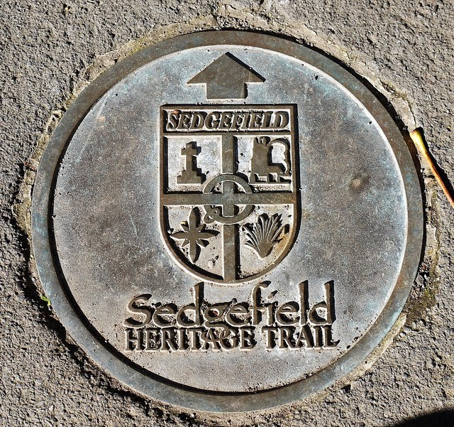 Sedgefield Heritage Trail pavement plaque, Rectory Road