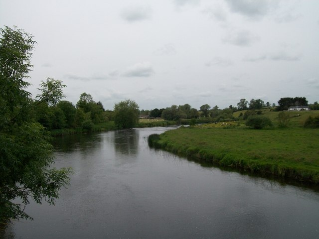 The Boyne upstream of the Bru na Boinne Visitors Centre