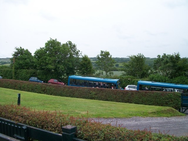 Visitor conveying buses at Newgrange