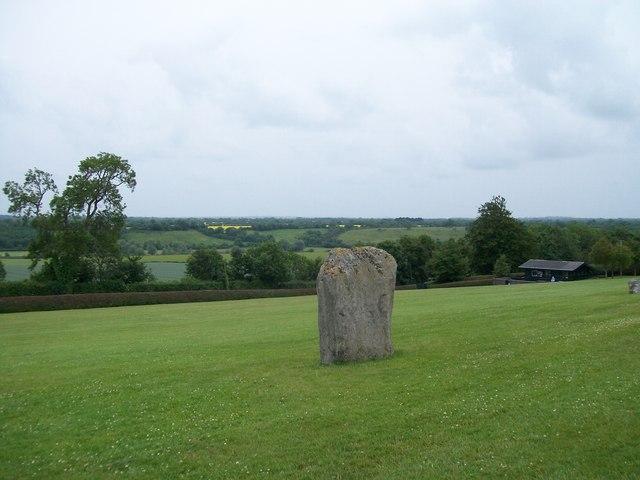 Standing stone at Newgrange