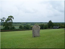 O0072 : Standing stone at Newgrange by Eric Jones
