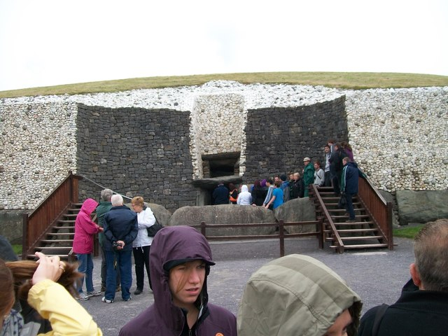 Visitors waiting to enter the Newgrange Tomb