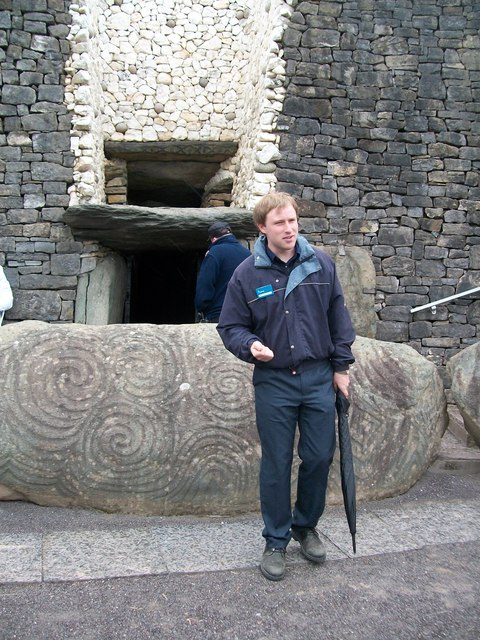 Office of Public Works Guide at Newgrange