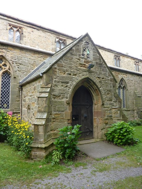 St Laurence Church at Hallgarth, Porch