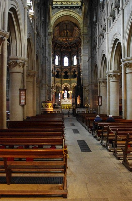 St. Fin Barre's Cathedral (interior) - nave & chancel, looking east, Cork