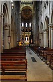W6671 : St. Fin Barre's Cathedral (interior) - nave & chancel, looking east, Cork by P L Chadwick