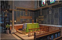 W6671 : St. Fin Barre's Cathedral (interior) - Dean's Chapel and Processional Cross, Cork by P L Chadwick