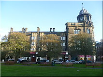 NT2676 : Old Leith Provident Co-op building from Taylor Park by kim traynor