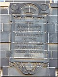 NT2676 : Commemorative tablet on the former Leith Hospital by kim traynor