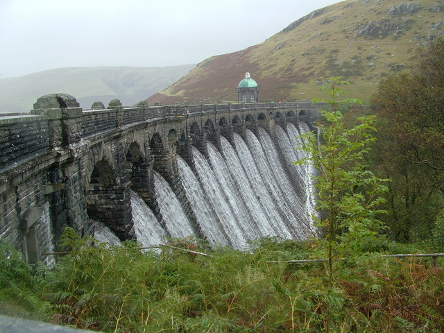 Craig Goch dam, Elan Valley