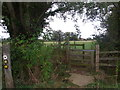 SP1039 : Division of paths,  NE of Willersey by Liz Stone