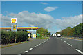 TF0701 : Shell fuel station on A1 by Robin Webster