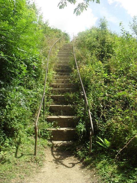 Steps to the Jarn Mound summit