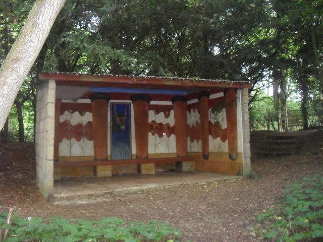 Shelter in Jarn Mound wild garden