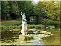 NZ3428 : Neptune, Serpentine Lake, Hardwick Hall Country Park by Andrew Curtis