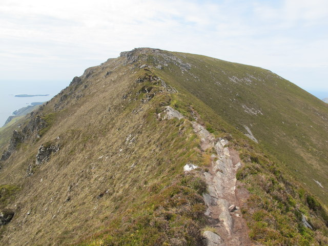 Donegal: Slieve League. One Man's Pass