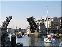 SY6778 : The Town Bridge, Weymouth by Richard Rogerson