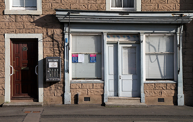 A disused shop in Ayton