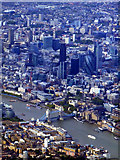 TQ3379 : Tower Bridge and the City of London from the air by Thomas Nugent