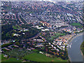 TQ2177 : Chiswick and Corney Reach from the air by Thomas Nugent