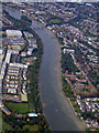 TQ2076 : The Thames at Kew from the air by Thomas Nugent