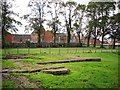NY3955 : What remains of Holy Trinity Church by Rose and Trev Clough