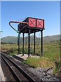 SH5752 : Water Tank, Rhyd Ddu Station by Chris Andrews