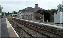 SN7634 : Platform 1, Llandovery railway station by Jaggery