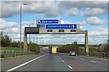 SE4335 : A1(M) - junction 44 in 1 1/2 miles by Robin Webster