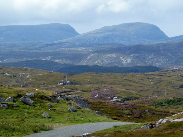 View to the mountains of Harris