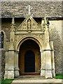SU1790 : South porch, St Leonard's Church, Stanton Fitzwarren, Swindon by Brian Robert Marshall