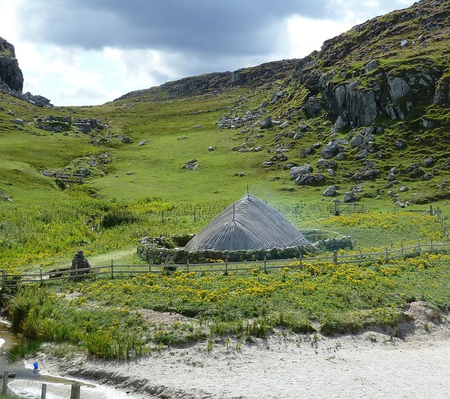 Reconstructed Iron Age House at Bostadh
