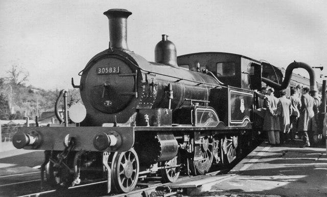 EX-LSW 4-4-2T on Rail Tour at Tipton St Johns