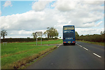 NZ4803 : A172 - Gold Hill loop road, east end by Robin Webster