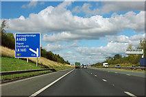 SE3963 : A1(M) - 1 mile to junction 48 by Robin Webster