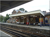 TQ1572 : Strawberry Hill railway station by Stacey Harris