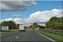 SE4387 : A19 at turning for Knayton and Borrowby by Robin Webster
