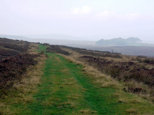 Old coach road north-west of the summit on Rimside Moor