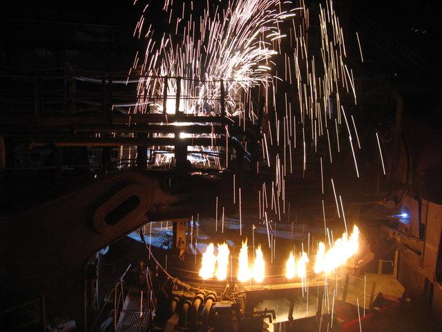 Electric arc furnace at Magna - The Big Melt