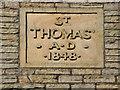 SD9504 : St Thomas'  Datestone by David Dixon